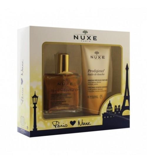 Nuxe Huile Prodigieuse Or 100ml + Nuxe Prodigieux Huile De Douche Shower Oil 200ml SET